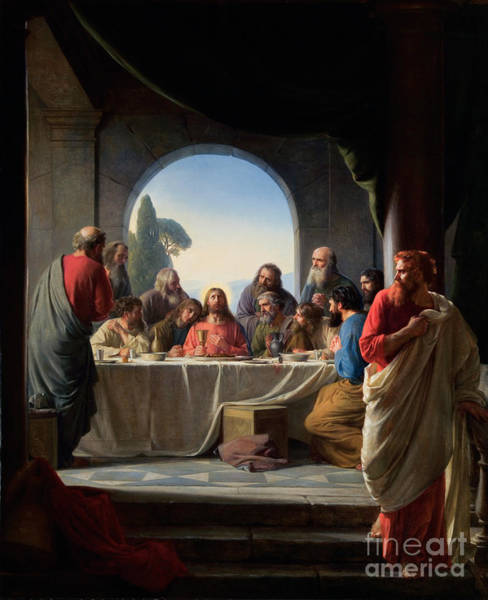 Painting - The Last Supper by Carl Bloch