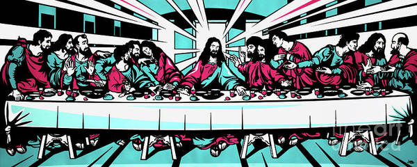 Disciple Wall Art - Painting - The Last Supper by James Lee