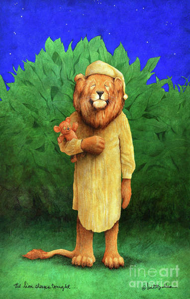 Wall Art - Painting - The Lion Sleeps Tonight... by Will Bullas