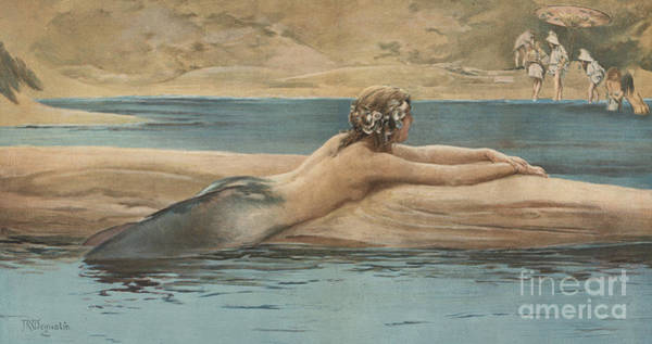 Wall Art - Painting - The Little Sea Maid by John Reinhard Weguelin