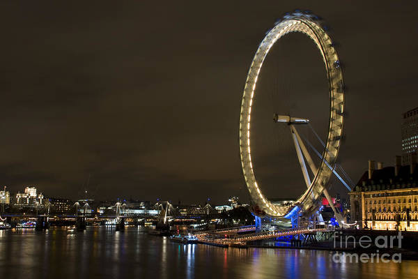 Wall Art - Photograph - The London Eye by Angel Ciesniarska