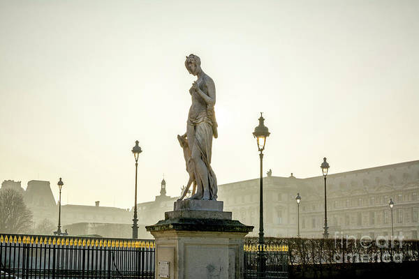 Wall Art - Photograph - The Louvre Seen From The Garden Of The Tuileries. Paris. France. Europe. by Bernard Jaubert