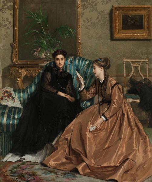 Painting - The Love Letter by Gustave Leonard de Jonghe