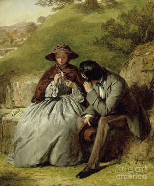 Courtship Wall Art - Painting - The Lovers by William Powell Frith