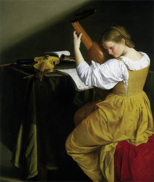 Painting - The Lute Player by Orazio Gentileschi