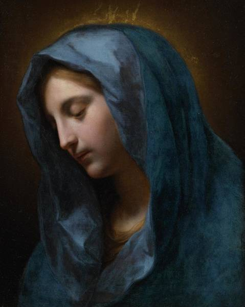 Wall Art - Painting - The Madonna Annunciate by Onorio Marinari