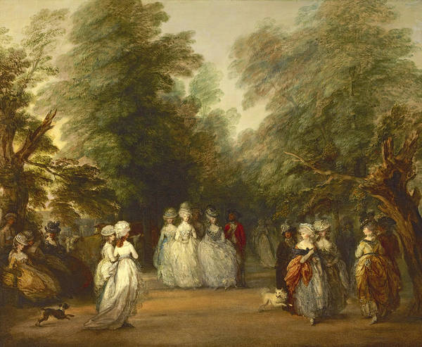 Mall Painting - The Mall In Saint James's Park by Thomas Gainsborough