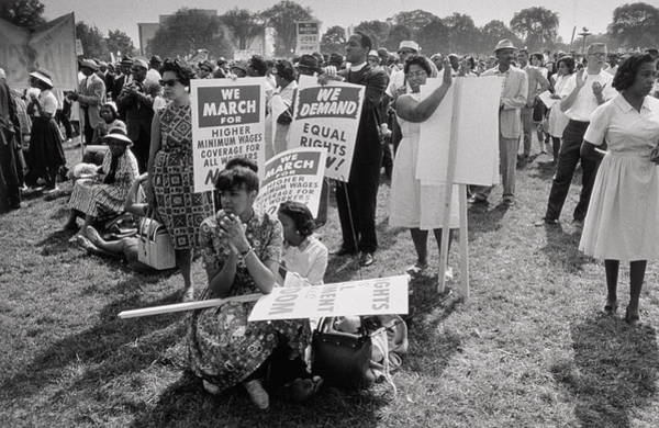 Equal Rights Wall Art - Photograph - The March On Washington  At Washington Monument Grounds by Nat Herz