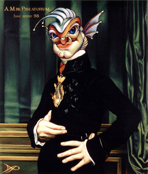 Siren Painting - The Marquis De Piscatorum by Patrick Anthony Pierson
