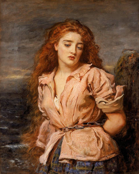 Painting - The Martyr Of The Solway by John Everett Millais