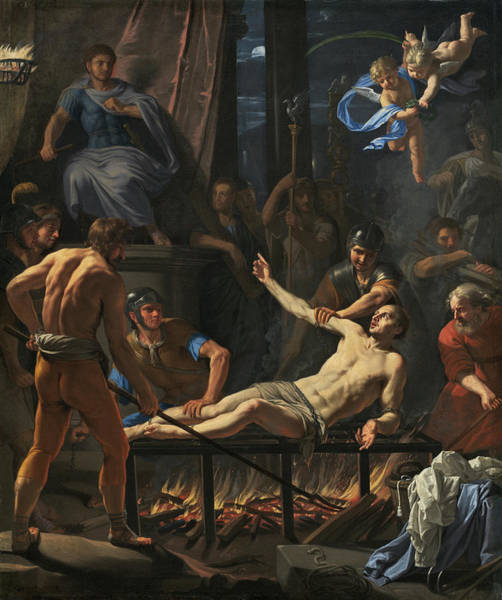 Painting - The Martyrdom Of Saint Lawrence by Jean-Baptiste De Champaigne