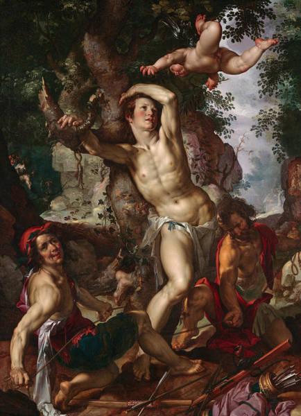 16th Century Painting - The Martyrdom Of Saint Sebastian by Joachim Wtewael
