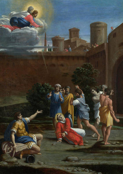 Gesture Wall Art - Painting - The Martyrdom Of Saint Stephen by Antonio Carracci