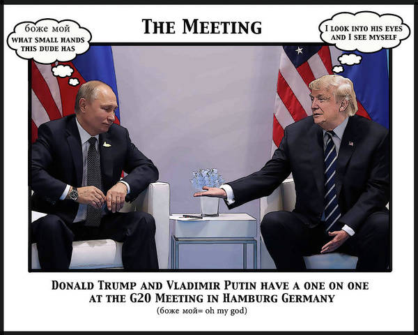 Trump Digital Art - The Meeting by Joe  Palermo