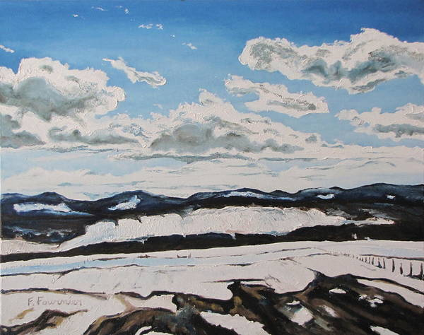 Wall Art - Painting - The Melting Snow In The Appalachians by Francois Fournier