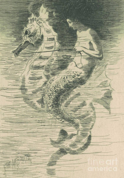 1880 Drawing - The Mermaid by Frederick Stuart Church
