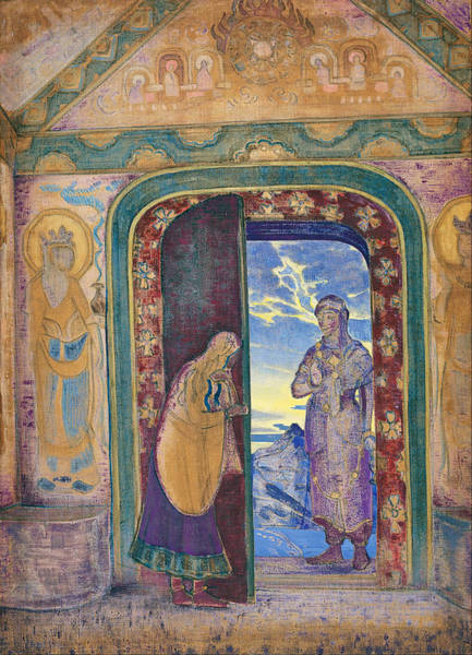 Metaphor Painting - The Messenger by Nicholas Roerich