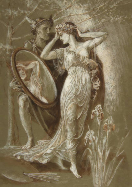 Wall Art - Painting - The Mirror Of Venus by Walter Crane