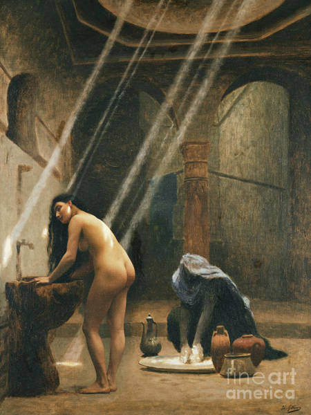 Wall Art - Painting - The Moorish Bath by Jean Leon Gerome