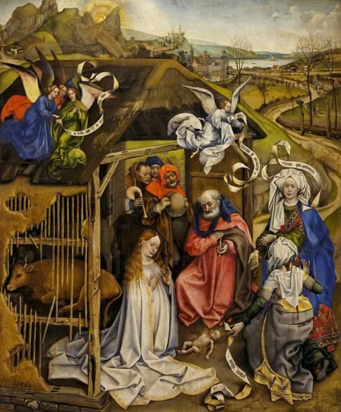 Redeemer Wall Art - Painting - The Nativity by Robert Campin