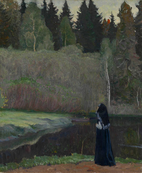 Painting - The Nightingale Is Singing by Mikhail Nesterov