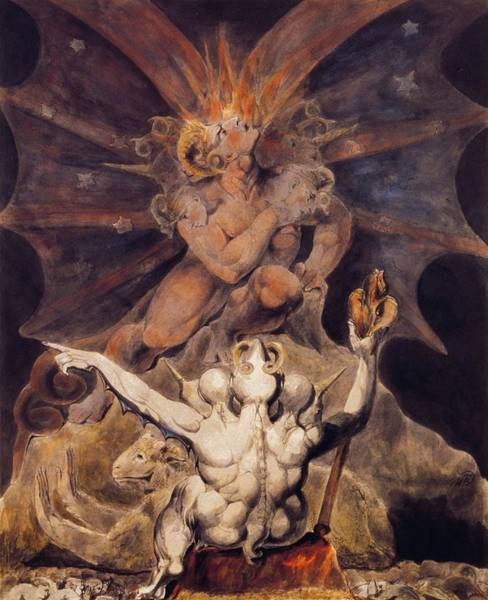Inferno Painting - The Number Of The Beast Is 666 by William Blake