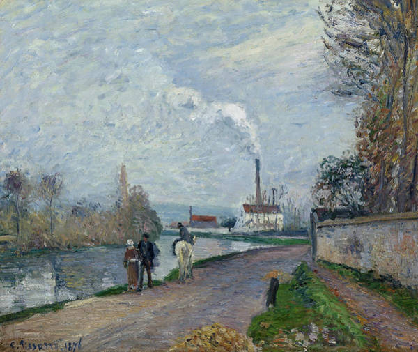 Painting - The Oise Near Pontoise In Grey Weather  by Camille Pissarro