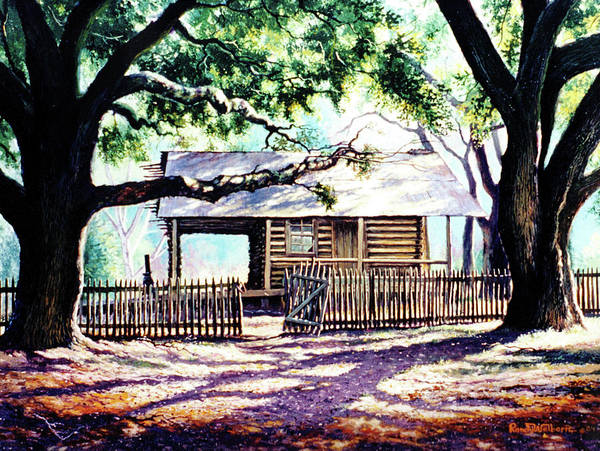 Oak Tree Painting - The Old Richardson Place by Randy Welborn