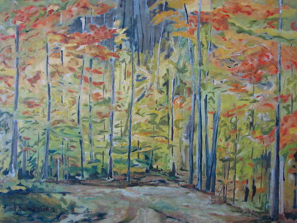 Wall Art - Painting - The Orange Maple Trees by Francois Fournier