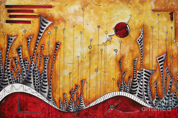 Wall Art - Painting - The Outpost Oversized Original Cityscape Apocalyptic Painting By Megan Duncanson by Megan Duncanson