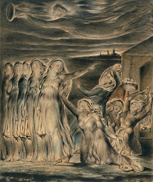 William Blake Drawing - The Parable Of The Wise And Foolish Virgins by William Blake