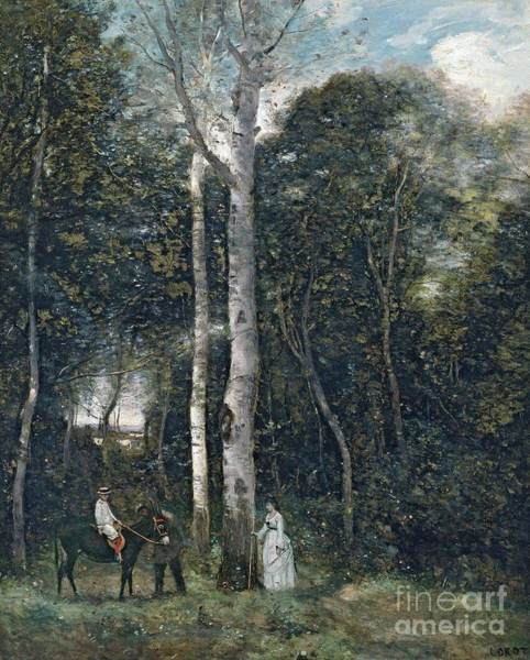 Wall Art - Painting - The Parc Des Lions At Port-marly by Jean Baptiste Camille Corot
