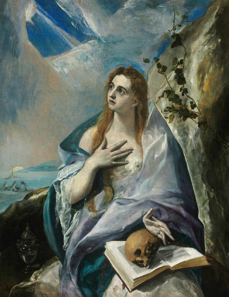 Painting - The Penitent Magdalene by El Greco