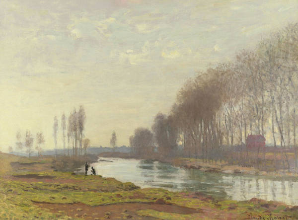 Waterway Painting - The Petit Bras Of The Seine At Argenteuil by Claude Monet