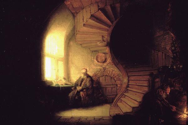 Metaphor Painting - The Philosopher In Meditation by Rembrandt van Rijn