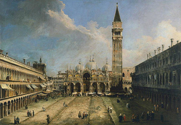 Painting - The Piazza San Marco In Venice by Canaletto