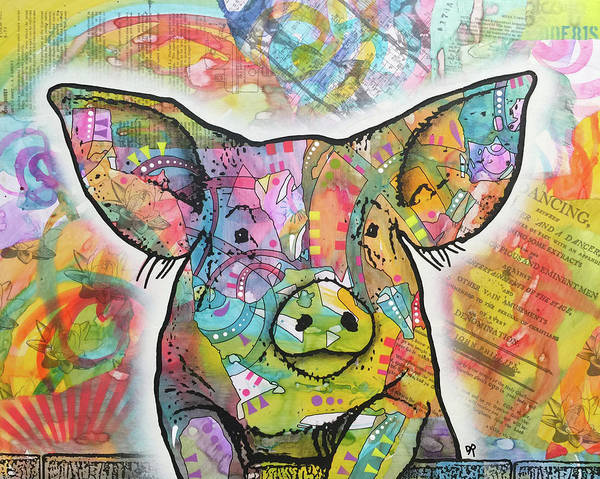 Painting - The Pig by Dean Russo Art