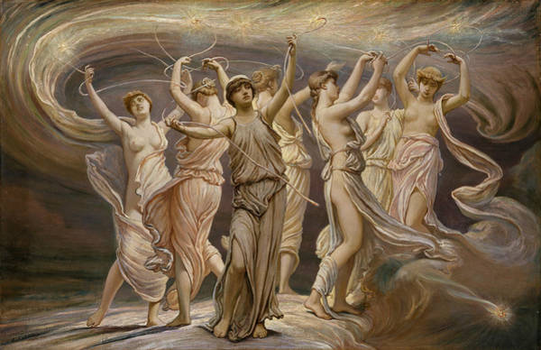 Wall Art - Painting - The Pleiades by Elihu Vedder