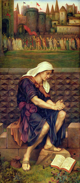 Saving Painting - The Poor Man Who Saved The City by Evelyn De Morgan