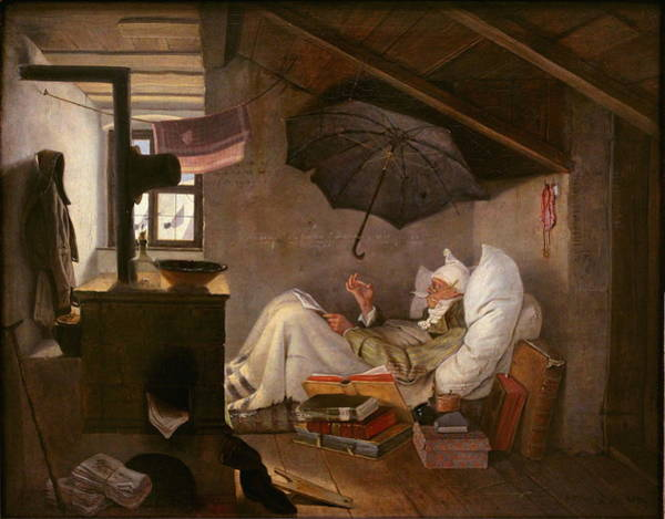 Painting - The Poor Poet by Carl Spitzweg
