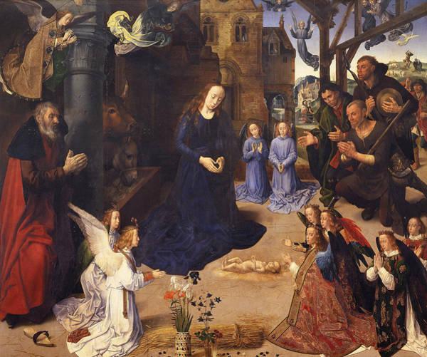 Redeemer Wall Art - Painting - The Portinari Triptych by Hugo van der Goes