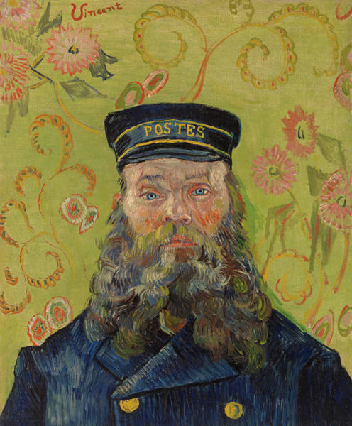 Wall Art - Painting - The Postman by Vincent van Gogh