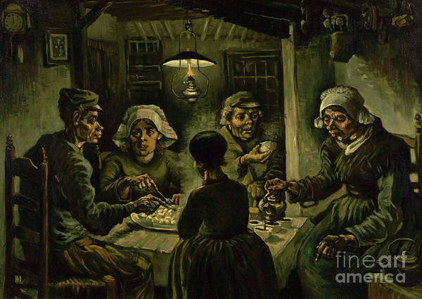 Food Groups Painting - The Potato Eaters, 1885 by Vincent Van Gogh