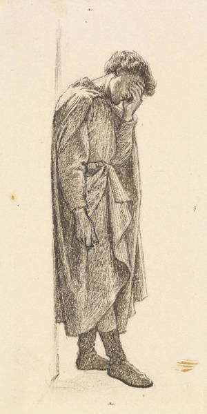Drawing - The Prince's Progress by Dante Gabriel Rossetti