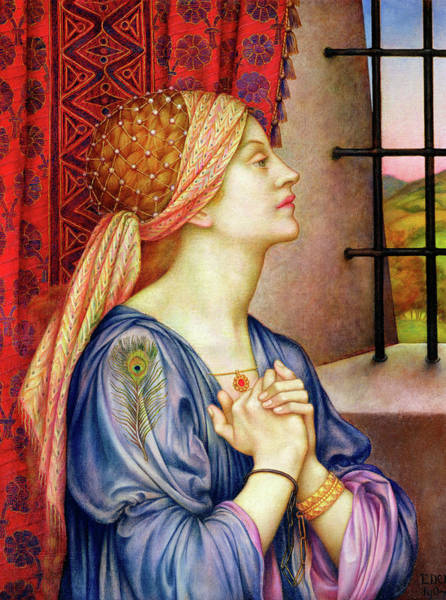 Wall Art - Painting - The Prisoner by Evelyn De Morgan