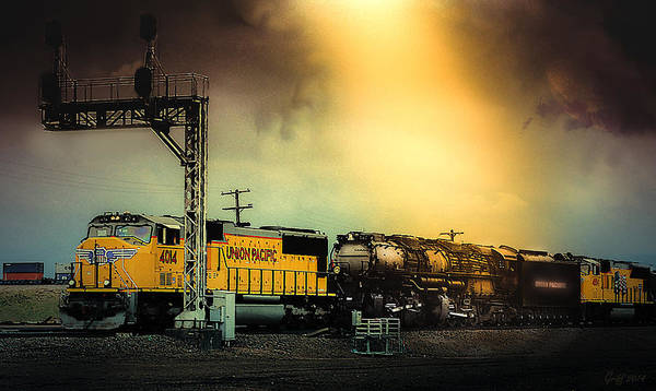 Union Pacific Railroad Wall Art - Digital Art - 4014 The Prodigal Warrior Returns by J Griff Griffin