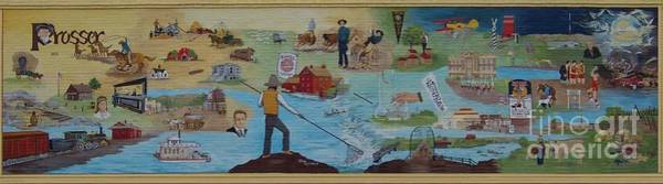 The Prosser Mural Art Print