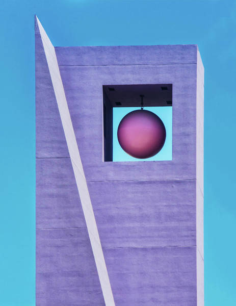 The Purple Tower At Pershing Square Art Print