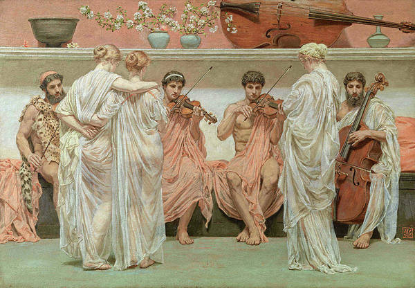 Tribute Painting - The Quartet, A Painters Tribute To Music by Albert Joseph Moore