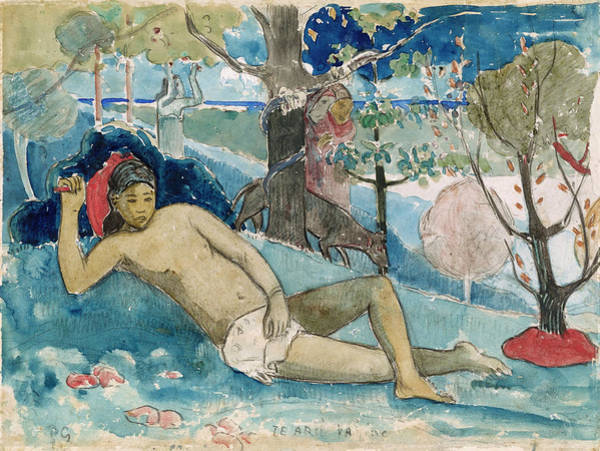 Wall Art - Painting - The Queen Of Beauty Or The Noble Queen by Paul Gauguin